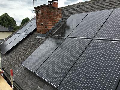 Solar Panels Outside